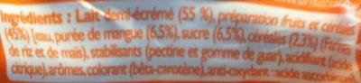 Milk'nGO - Ingrédients - fr