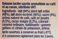 Caffe latte - Ingredients