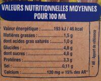 Lactel - Voedingswaarden - fr