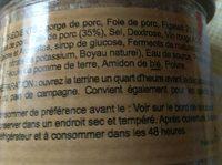 Pate Au Figatelli 90G - Ingrédients
