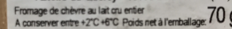 Rocamadour fermier - Ingrédients