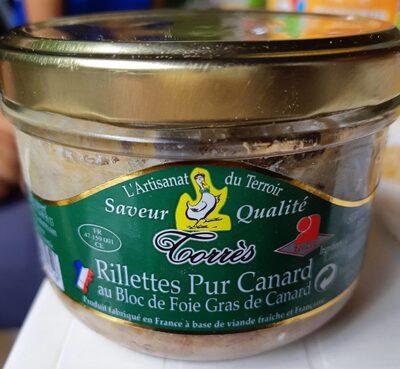 Rillettes de canard au bloc de foie gras - Produit - fr