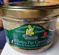 Rillettes de canard au bloc de foie gras - Product - fr