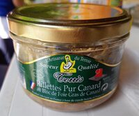 Rillettes de canard au bloc de foie gras - Informations nutritionnelles - fr