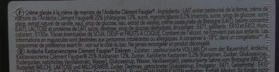 Creme glacée marron de l ardheche - Ingrédients - fr