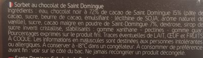 Glace Chocolat - Ingrédients - fr