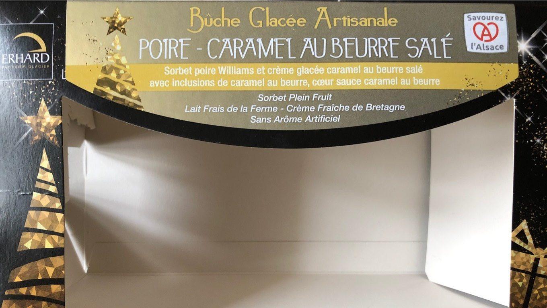 Bûche Glacée Artisanale Poire, Caramel au Beurre Salé - Product - fr