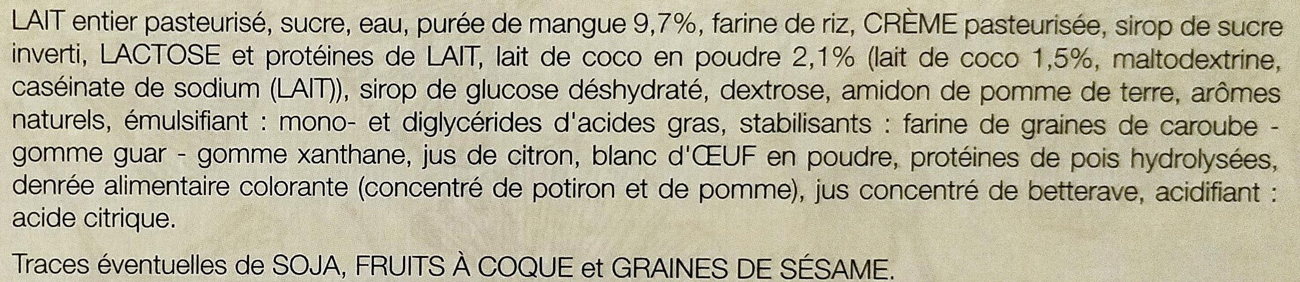 Mochis glacés - Ingrédients - fr