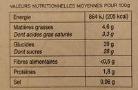 Mochis glacés - Informations nutritionnelles - fr
