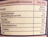 What the french - Informations nutritionnelles - fr
