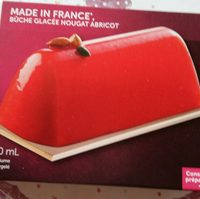 Bûche glacée nougat abricot - Product