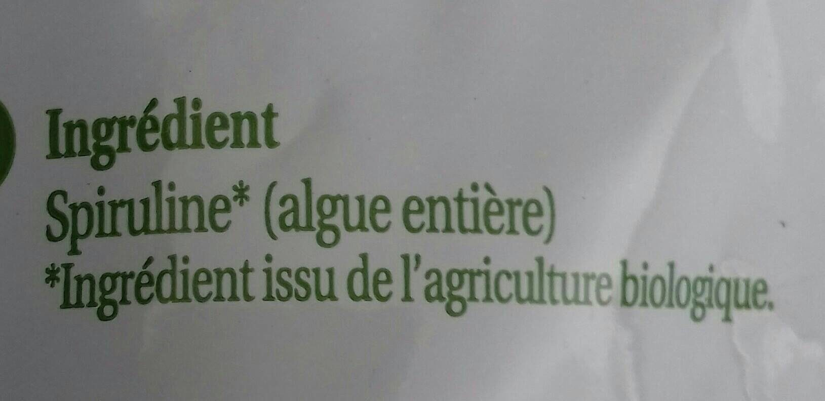 Spiruline - Ingredients - fr