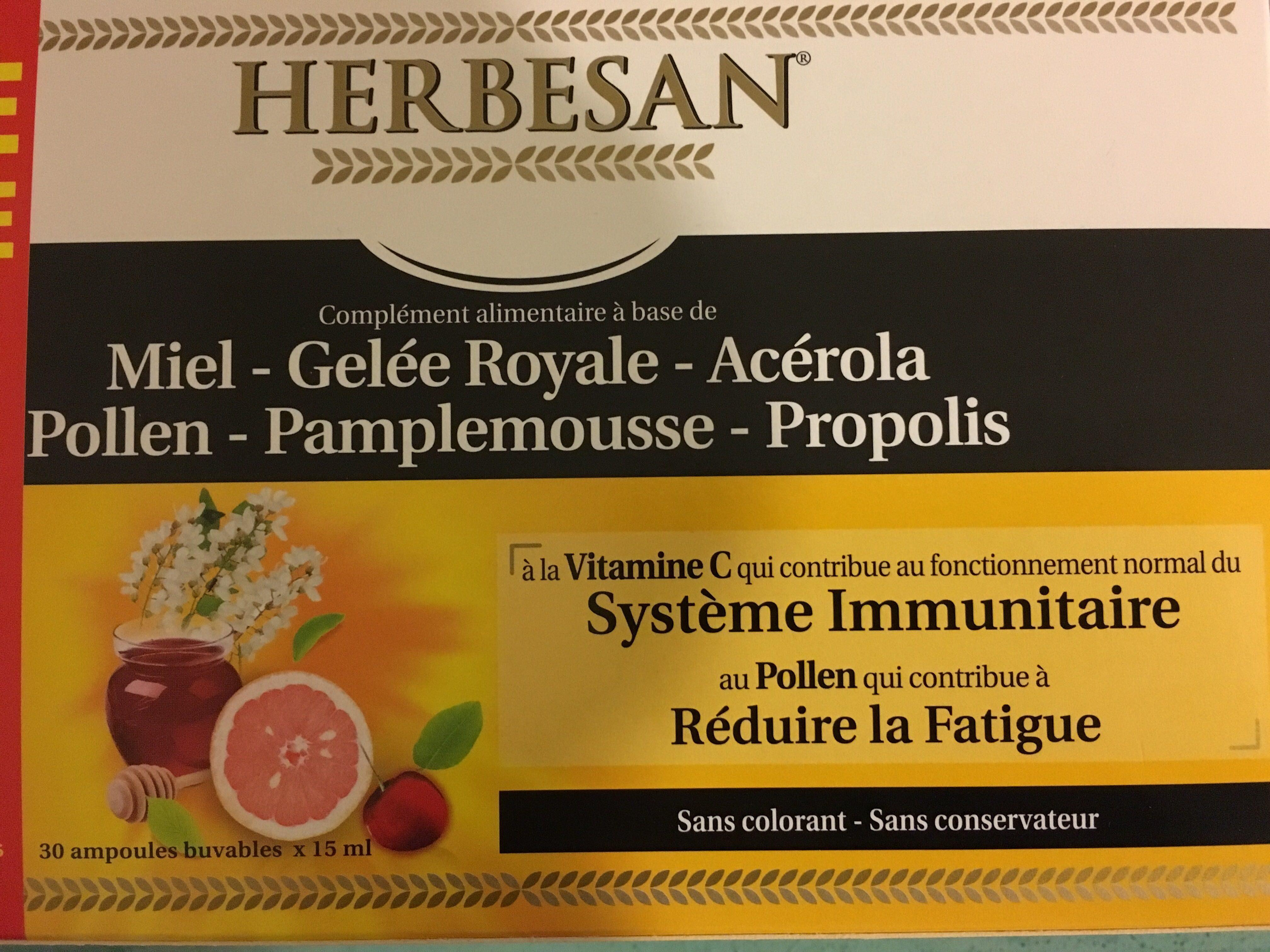 Herbesan Propolis Gelée Royale - Product - fr
