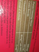 Herbesan Ginseng Tonifiant (tonus) - Nutrition facts