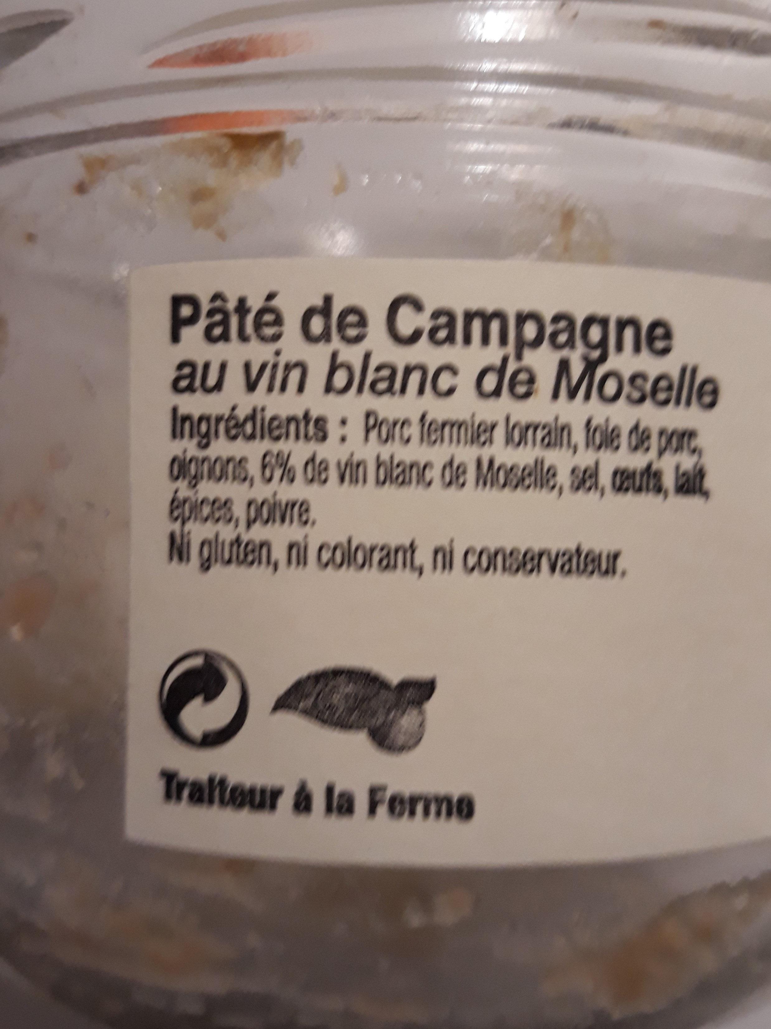 Pâté de campagne au vin blanc de Moselle - Ingrediënten - fr