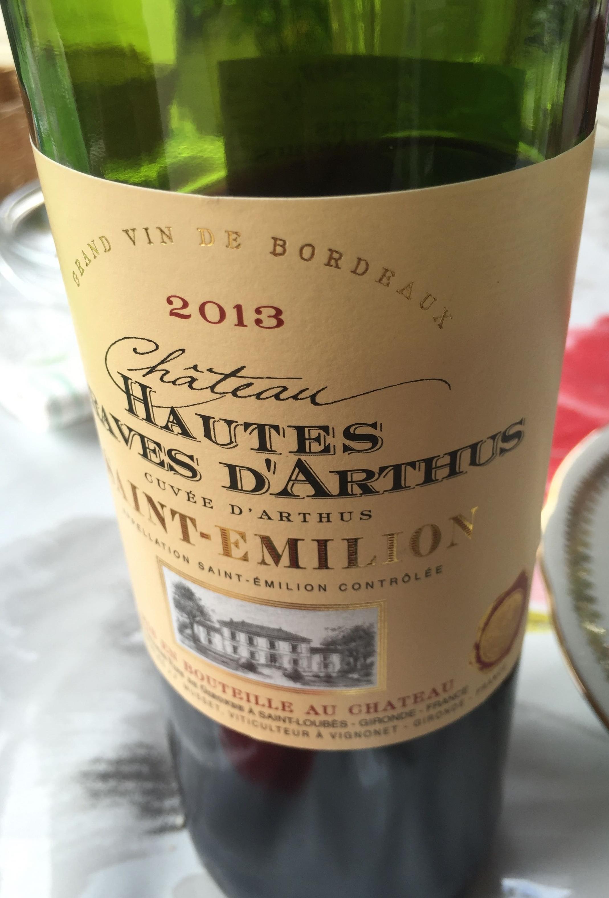 Cuvée d'Arthus 2013 - Product