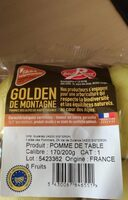 Pommes golden de montagne label rouge - Valori nutrizionali - fr