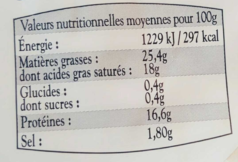 Neufchâtel - Informations nutritionnelles - fr