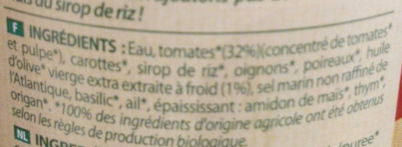 Sauce spaghetti à la provençale - Inhaltsstoffe - fr