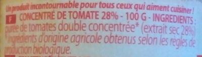 Concentré de tomate 28% - Ingrédients - fr
