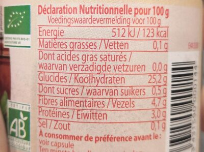Concentré de tomate 28% - Informations nutritionnelles - fr