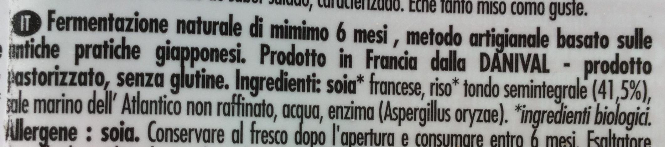 Bio Miso - Riz - Ingredienti - it