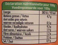 670G Ravioli Au Seitan Sauce Tomate - Nutrition facts - fr