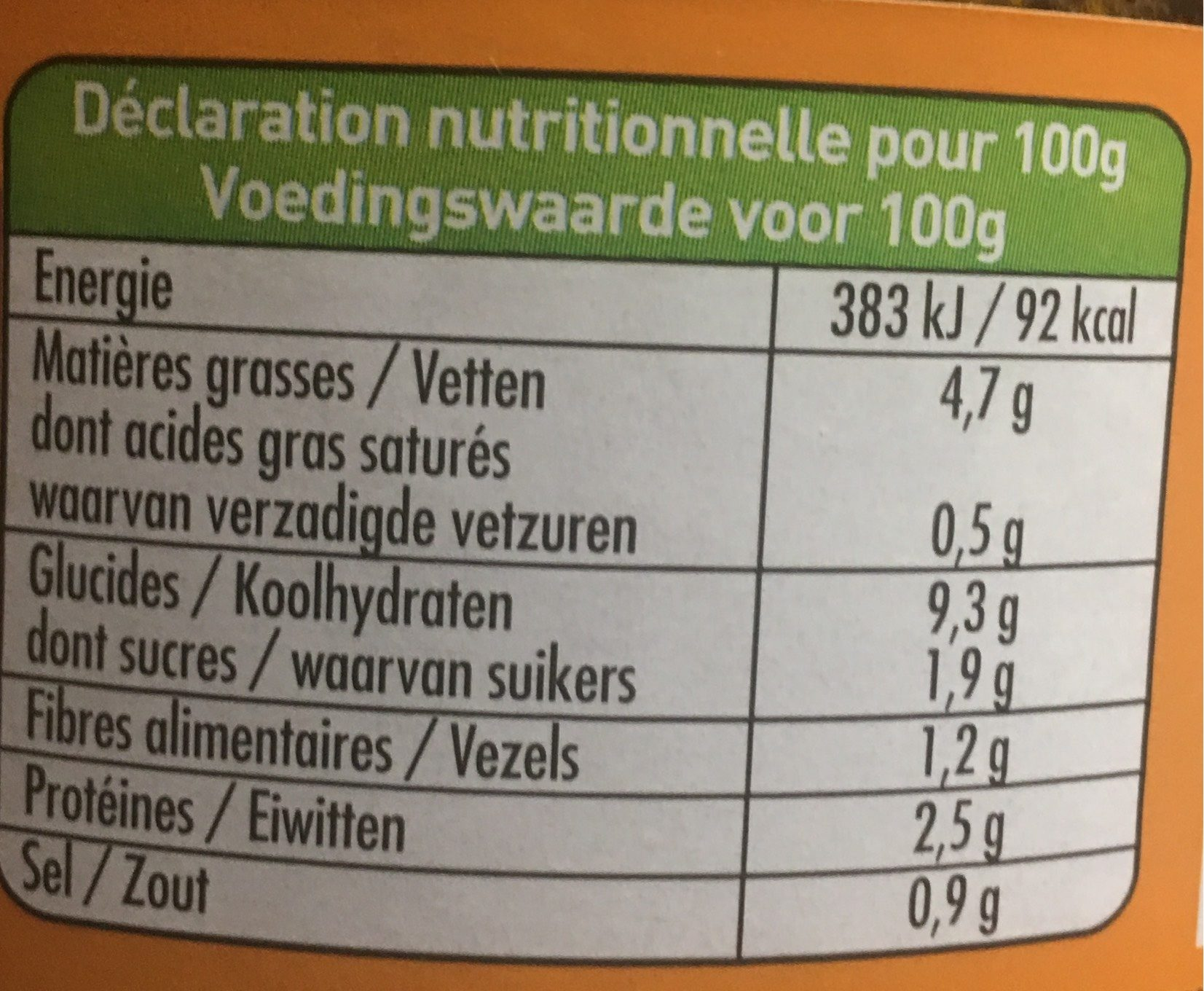 670G Ravioli Au Seitan Sauce Tomate - Voedingswaarden