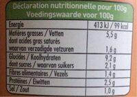Ravioli Ricotta & Epinards - Informations nutritionnelles - fr