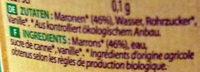 Maronenaufstrich - Inhaltsstoffe