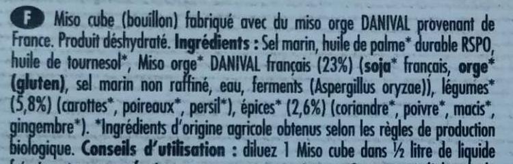 Miso cube Original - Ingredients - fr