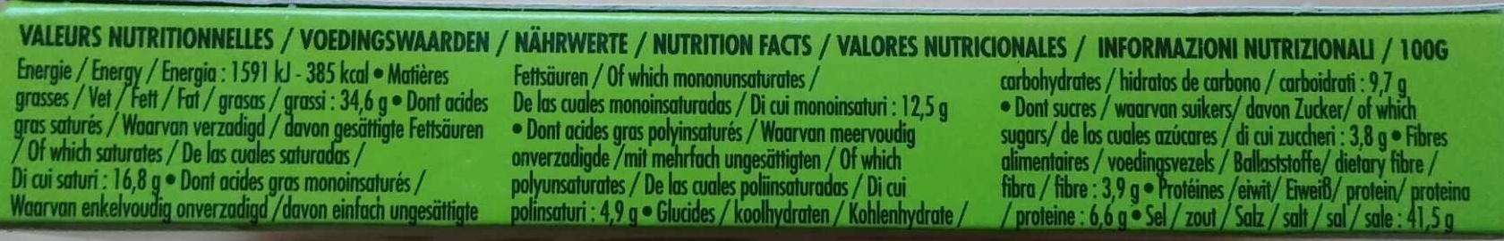 Miso cube Original - Nutrition facts