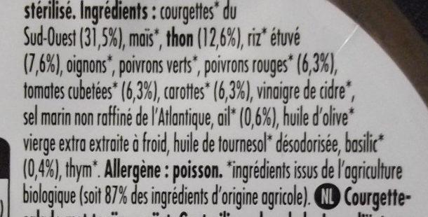 Salade du Soleil au Thon - Ingrédients - fr