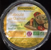 Taboulé quinoa, légumes et citron - Produit - fr