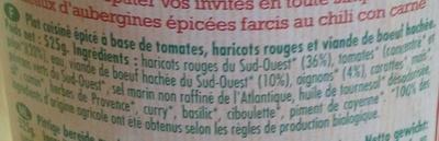Chili Con Carne au Bœuf du Sud-Ouest - Ingrédients - fr