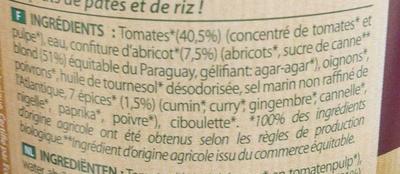 Sauce indienne aux 7 épices - Inhaltsstoffe - fr