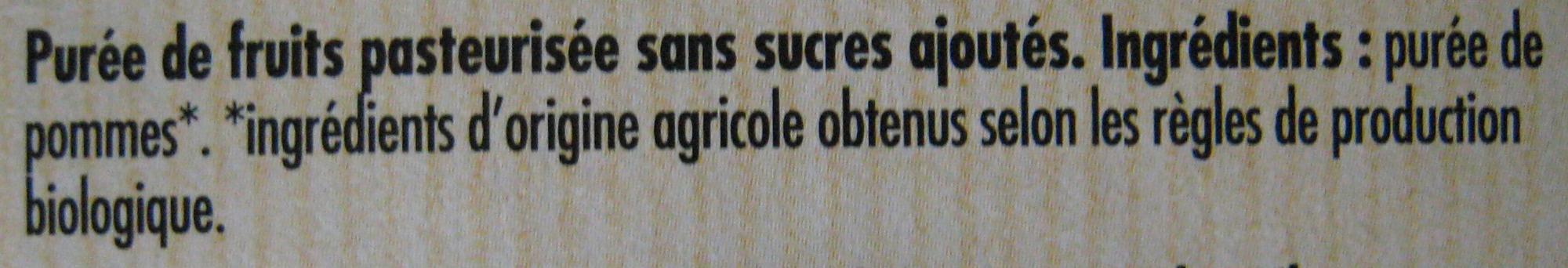 Purée de Pomme 100% fruit - Ingrédients - fr