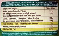 Purée de Pomme 100% fruit - Informations nutritionnelles - fr