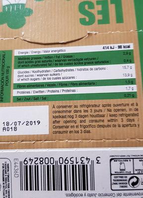Flan Amande & Cacao Bio & Sans Gluten - Voedingswaarden - fr