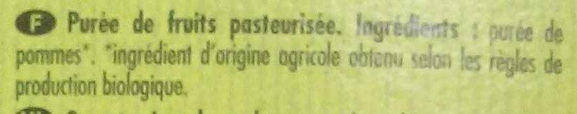 Poki Bio Pomme - Ingrédients - fr