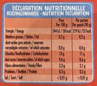 Etui 4 Pokibio Pomme Fraise - Voedingswaarden - fr