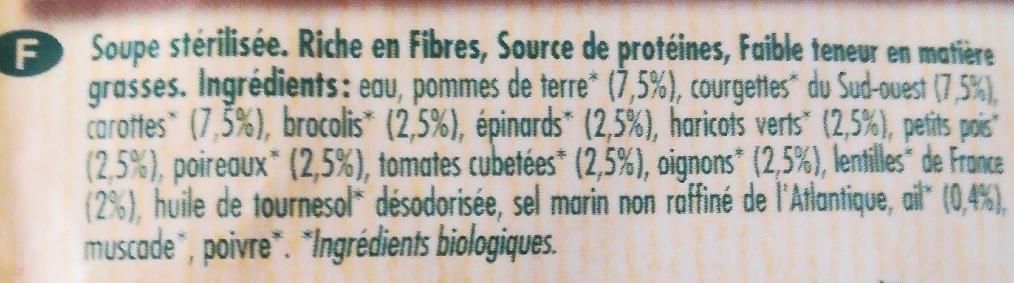 Soupe aux 12 légumes - Ingrédients - fr
