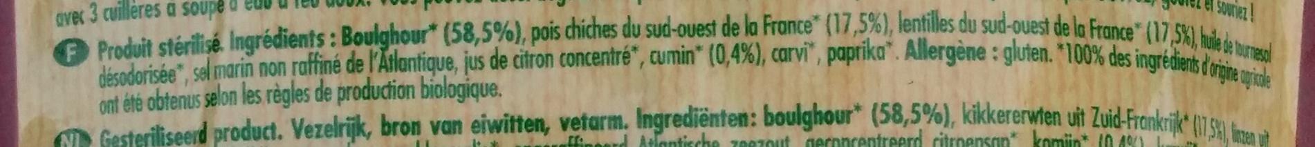 Graines express - Trésor du Maroc - Ingrédients - fr