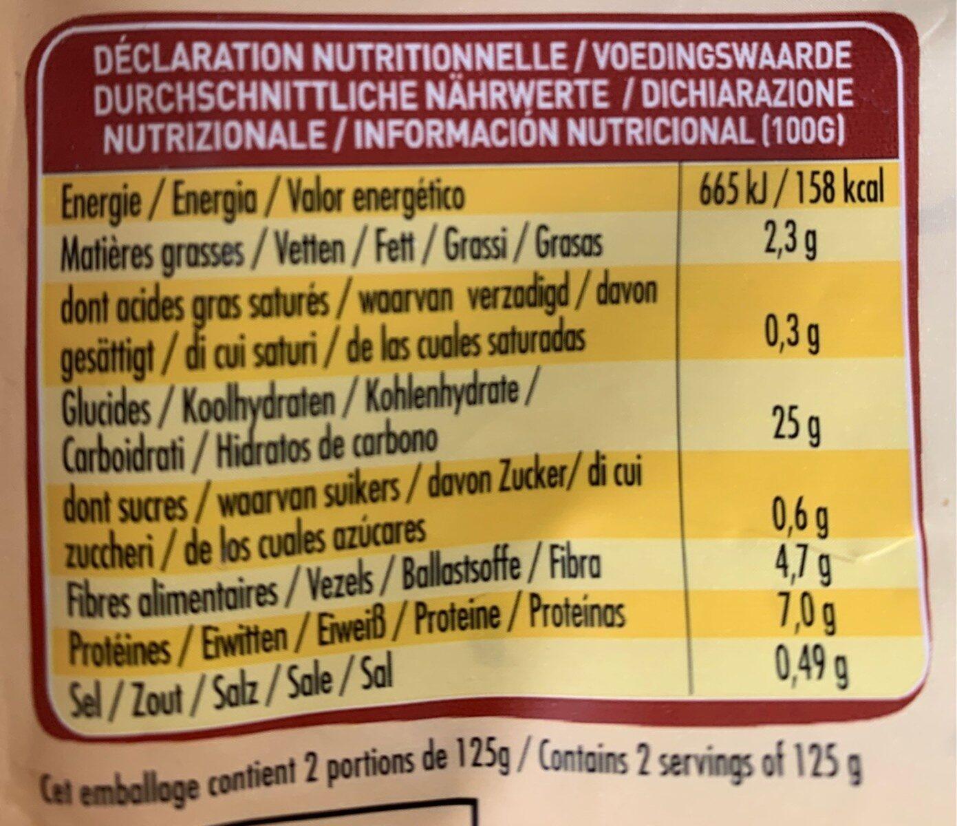Graines express - Trésor du Maroc - Informations nutritionnelles - fr