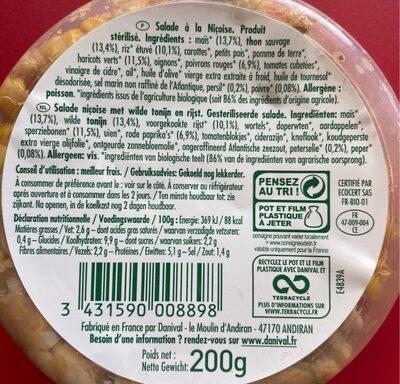 Salade à la Niçoise - Informations nutritionnelles