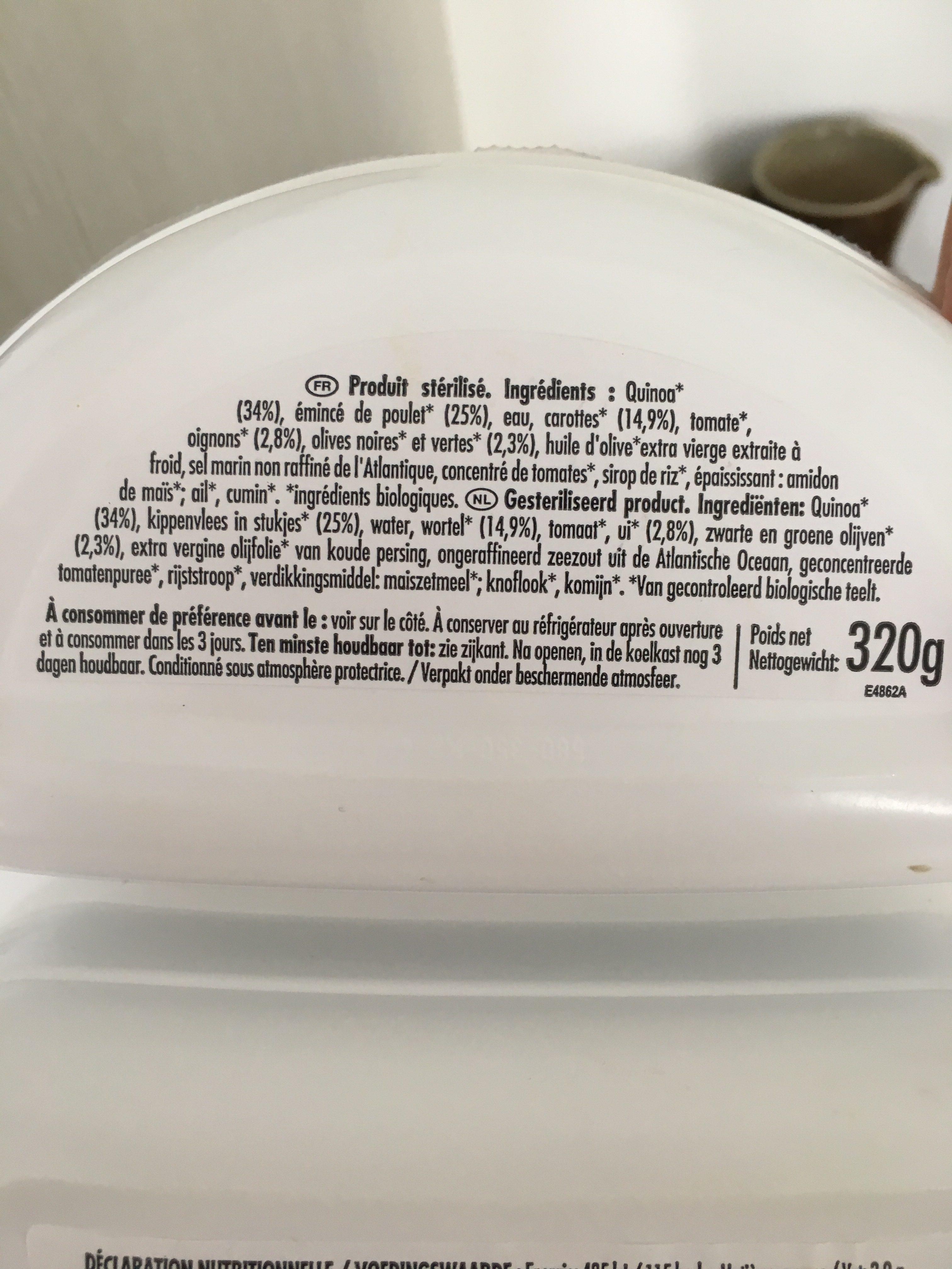 Poulet Aux Olives & Quinoa - Ingredients