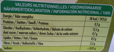 100% fruit - Informations nutritionnelles