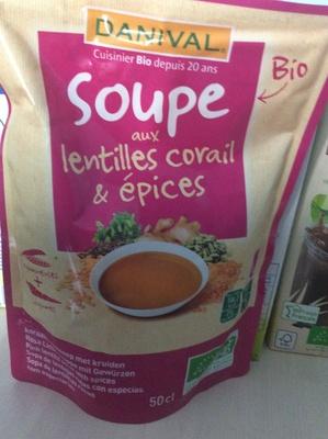 Soupe aux lentilles corail et epices - Produit - fr