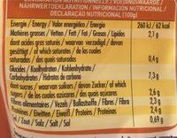 Soupe de potimarron,courge butternut - Informations nutritionnelles - fr