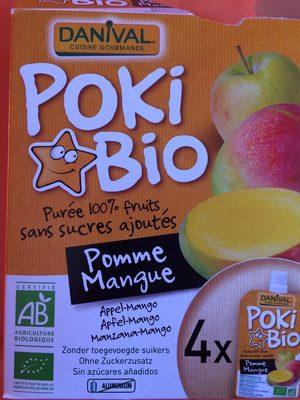 Poki Bio Pomme-Mangue Purée 100% fruits - Product - fr